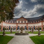 This is the orangery at the castle in weilburg, germany.