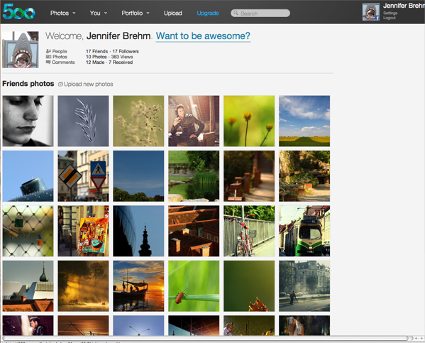 Flickr Alternative? A bit about 500px